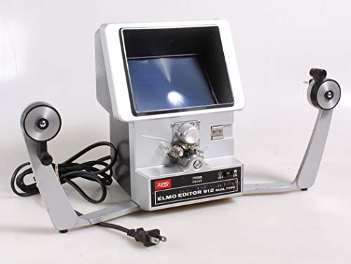 ELMO DUAL 8MM 912 Movie Film Editor for 8MM and Super 8MM Films with Working Bulb