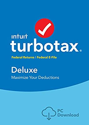 TurboTax Deluxe 2016 Tax Software Federal No State + Fed Efile PC/MAC Disc [Amazon Exclusive]