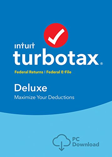 TurboTax Deluxe 2016 Tax Software Federal No State + Fed Efile PC download [Amazon Exclusive]