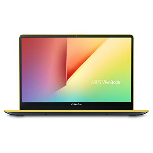 ".6"" Slim and Portable Laptop, Intel Core i5-8250U Processor (up to 3.4Ghz), 8GB DDR4, 256GB SSD, NanoEdge Bezel, Silver Blue with Yellow Trim, S530UA-DB51-YL ()"