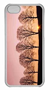 Customized iphone 5C PC Transparent Case - Beech Trees At Sunrise Personalized Cover