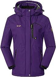 BASUDAM Women's Skiing Jacket Waterproof Windproof Snowboard Winter Warm Coats with Fleece Li