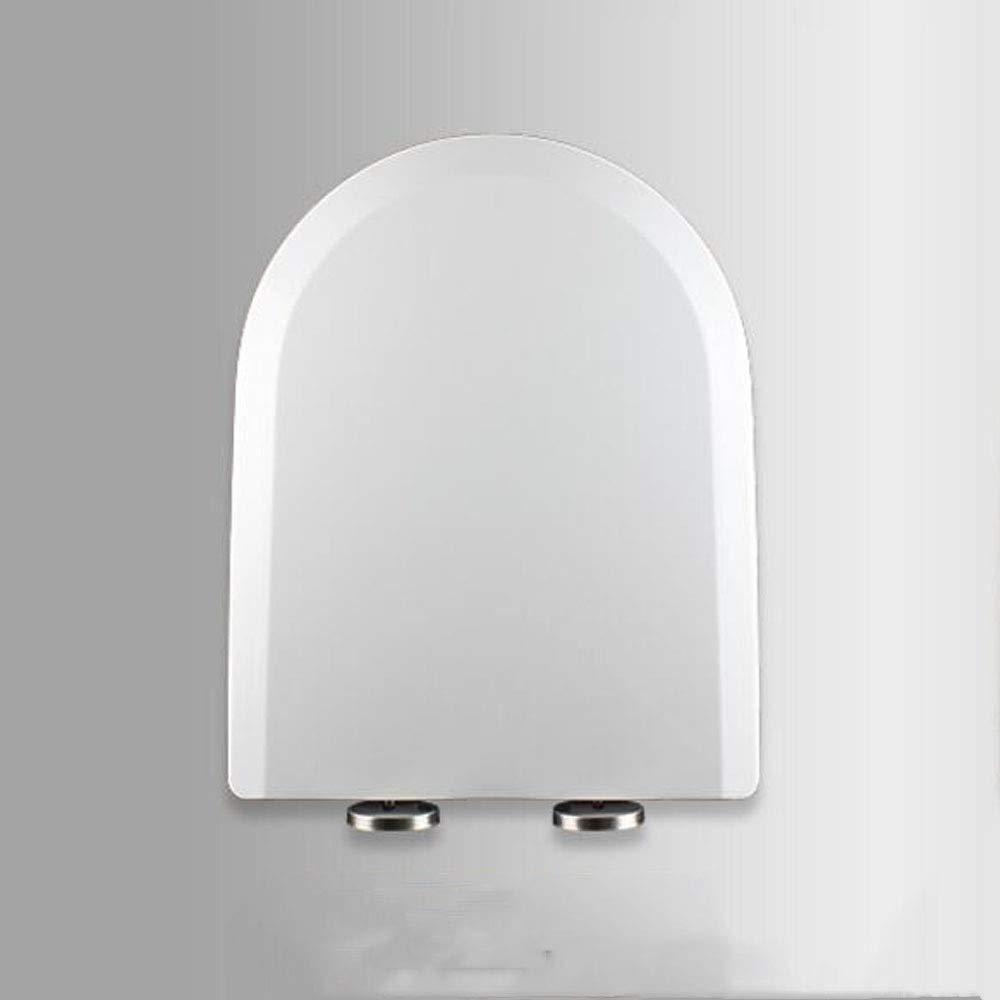 Feste WC-Sitzabdeckung Für Familien,White-44~50 lili U/V-Form Weiß WC-Sitz Mit Verstellbarem Scharnier Mit Soft-Close-Schnellverschluss Hochwertige 36cm