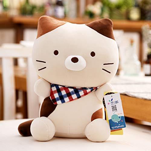 DONGER Cute Cat Doll Kätzchen Spielzeug Schlafkissen Puppe Medium, Beige, 55 cm