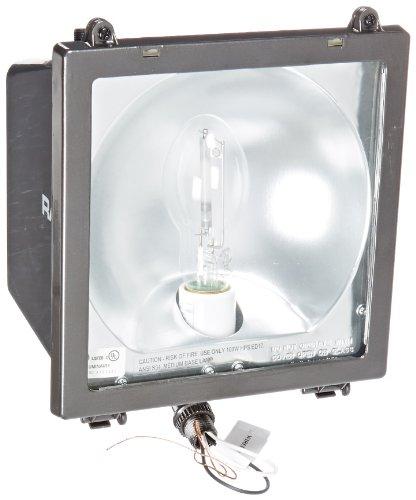 RAB Lighting EZSH100/PC High Pressure Sodium EZ Floodlight, ED17 Type, Aluminum, 100W Power, 9500 Lumens, 120V Button Photocell, Bronze - Floodlight Hps