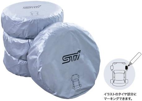 スバル純正 STI マーカー付タイヤカバー L シルバー