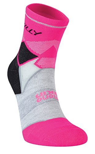 Hilly Women's Photon Anklet Socks, Black/Fluro Pink, Small]()