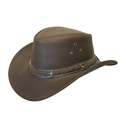 Down Under Cotton Hat (Down Under Leather Hat Brown XXL)