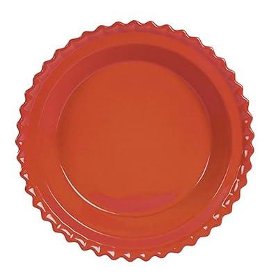 Chantal Ceramic Pie Dish 9 Inch, Glossy Cinnabar