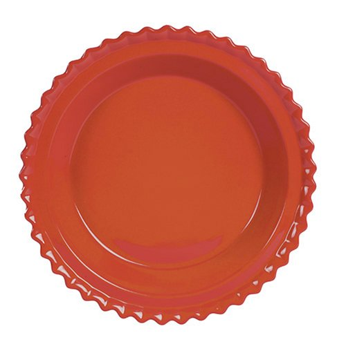 Chantal 93-PD23 CB Ceramic Pie Dish, 9-Inch, Cinnabar ()
