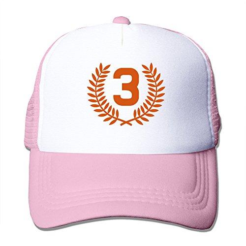 (Mens Third Place Mesh Back Baseball Hat Trucker Hats Pink)