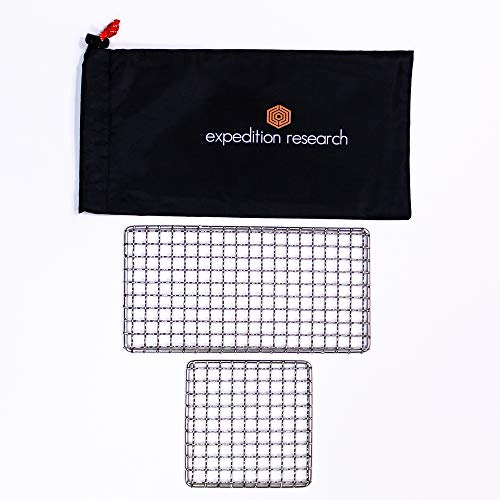 Expedition Research LLC Combo 2-Pack - The Original Bushcraft Grill - Welded Stainless Steel High Strength Mesh (Campfire Rated)
