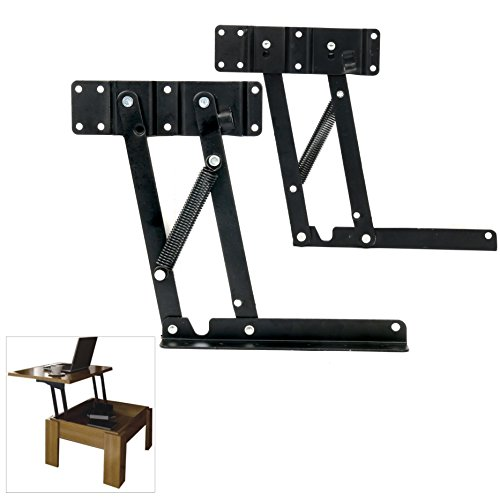 YaeKoo 1set Lift Up Top Coffee Table Mechanism DIY Hardware Fitting Furniture Hinge Spring