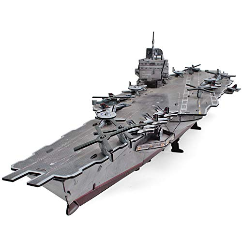 - CubicFun 3D Puzzles Warships Model Kits, USS Enterprise Aircraft Carrier, 121 Pieces