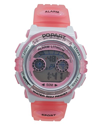 Aivtalk Kid Cute Watch Led 50M Water Resistant Digital Sports Watch Girls Gift Wristwatch With Time,Date,Week,Count Digit,Chime,El-Light - (Girl Chime)