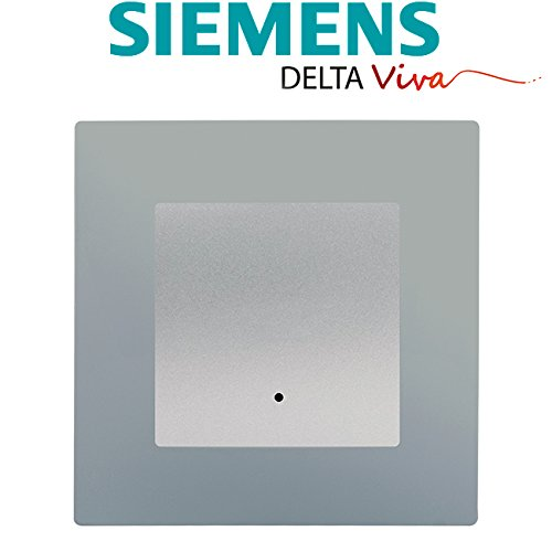 Siemens Delta Viva TwoWay Switch with Indicator Light Silver