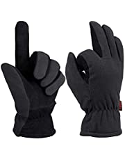 Save on OZERO Deer Suede Leather Warm Gloves