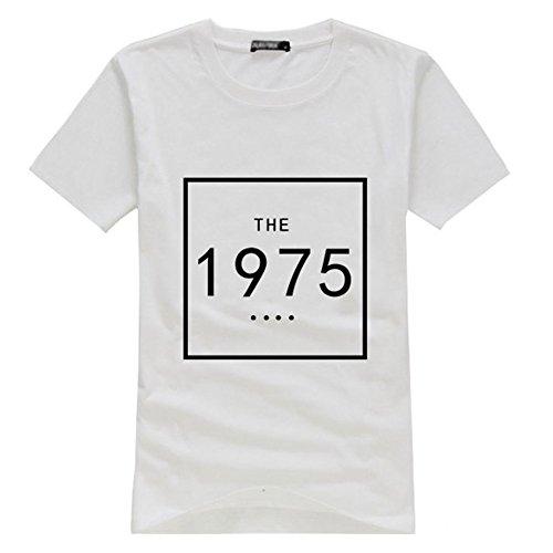 Rock Band The 1975 White T-Shirt (Medium, 001)