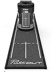 PuttOut Slim Golf Putting Mat - Green - 94.5 inches x 9.8 inches