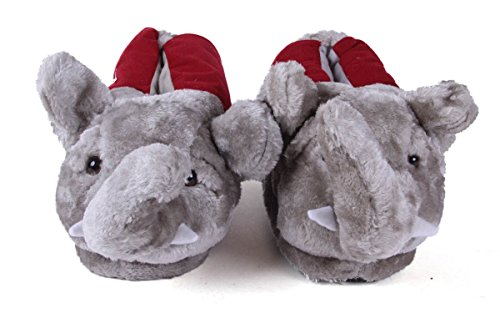 Comfy Feet Happy Feet Mens and Womens Officially Licensed NCAA Mascot Slippers Alabama Crimson Tide iq5rc