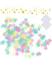 200 stuks Glow Stickers Sterren Donkere sterren Stickers Fluorescerende Sterren Muurstickers Lichtgevende sterrenstickers Kind Slaapkamer Woonkamer Muur DIY Decoratie Accessoires (200)