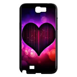 SamSung Galaxy Note2 7100 phone cases Black Heart Pattern cell phone cases Beautiful gifts NYU45762129