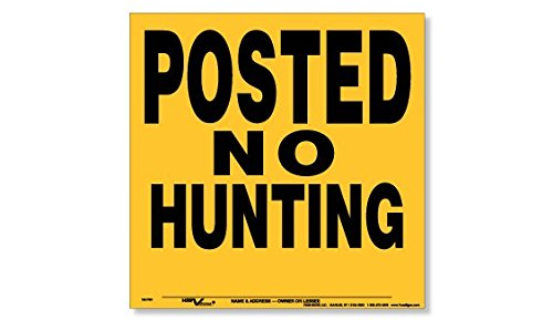 Voss Signs Yellow Polyethylene Posted No Hunting Signs (25 pack)