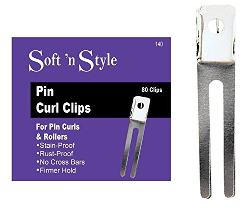 Soft 'N Style Boxed Pin Curl Clips, 80 Per Box