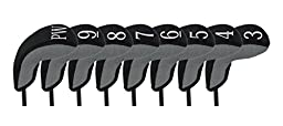 Stealth Club Covers 28080 Hybrid Set 3-PW Golf Club Head Cover (8-Piece), Silver Tweed/Black