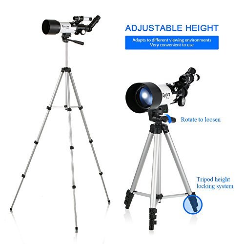 Lixada Outdoor 133X Zoom Telescope 400x70mm Refractive Space Astronomical Telescope Monocular Travel Spotting Scope with Tripod