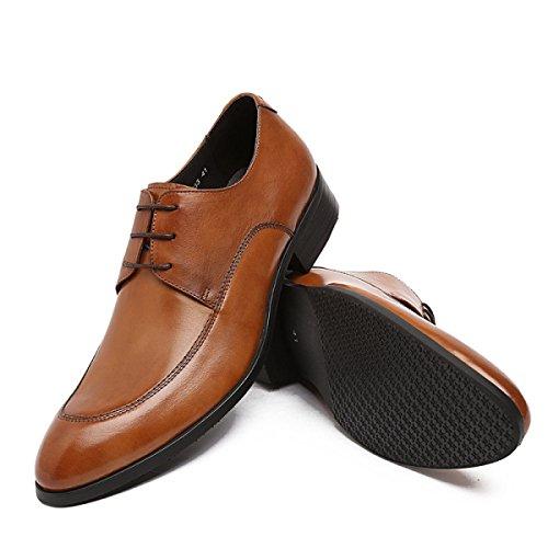 Lyzgf Mannen Gentleman Business Casual Mode Banket Spirited Wees Veter Leren Schoenen Geel