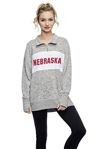 of Nebraska Ladies Quarter Zip Sweater/Pullover/Sweatshirt - Nebraska Cornhuskers Women's Apparel ()