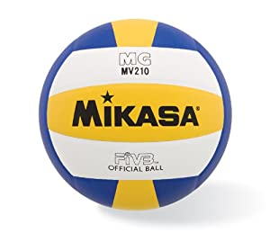 Amazon.com : Mikasa MV210 Premium Synthetic Volleyball (Official ...