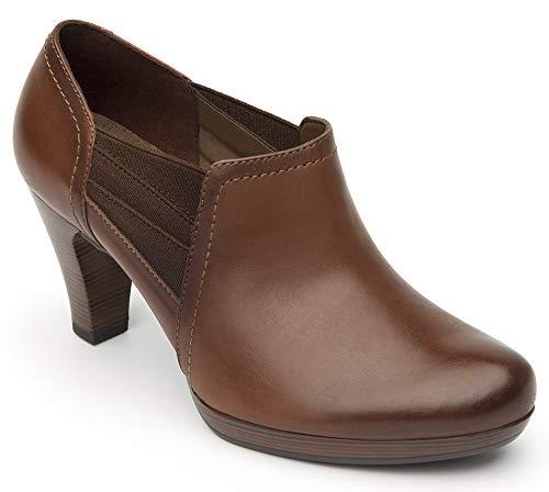 Flexi Mitzy Women's Genuine Cow Leather Elastic Heel Shoe | 34309 (6.5, Coffee)