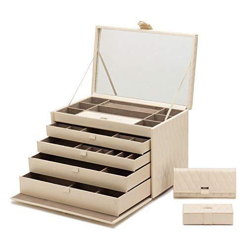 WOLF 329553 Caroline Extra Jewelry Case, Large, Ivory