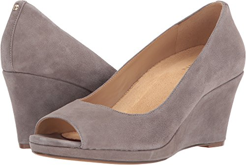 Naturalizer Women's Olivia Modern Grey Suede 8.5 W (Naturalizer Wedge Shoes)