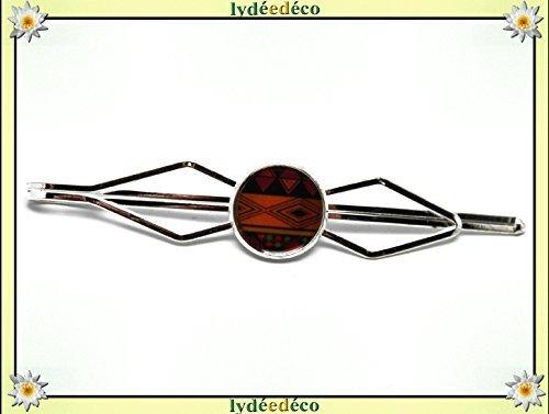 1 pin clip corbata traje resina África naranja negro marrón bronce ...
