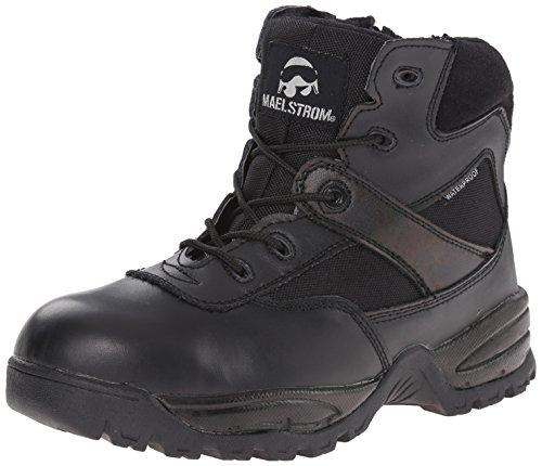 Maelstrom Men's Patrol 6 Inch Zipper Waterproof CT Safety Boot, Black, 8 M US