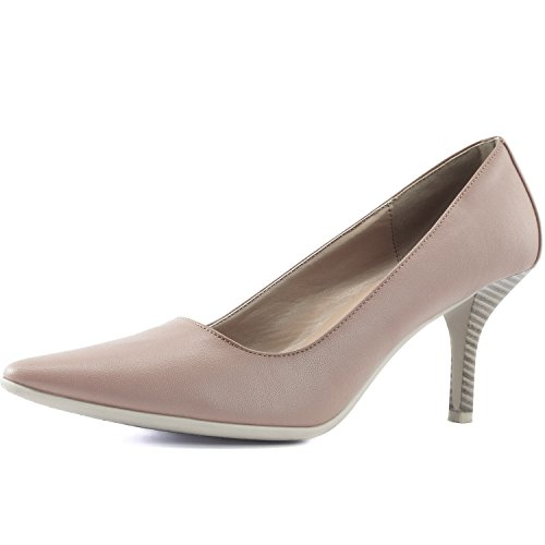 Comfortable High Heel Shoes (DailyShoes Women's Comfortable Ponited Toe Non-Slip High Heel Pump Shoes, 9)