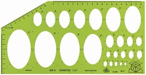 Faber-Castell 960 Isometric Ellipse Template Faber Castell FC172601