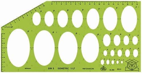 Faber-Castell 172601 - Plantilla de elipses FC172601