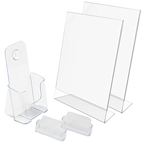 - Deflecto New Business Kit, 2 Sign Holders, 2 Business Card Holders, 1 Literature Holder (697KIT)