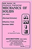 AMIE Mechanics of Solids MC 403 Solved Paper
