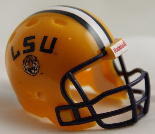(LSU TIGERS NCAA Riddell Revolution POCKET PRO Mini Football Helmet)