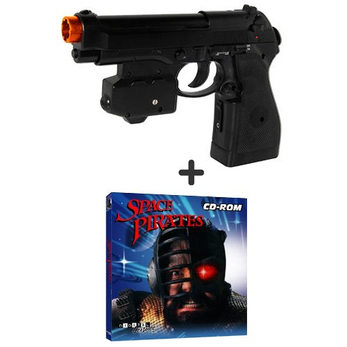 Top Gun Ps2 - EMS Top Gun 3 Space Pirates PC Game Pack - Wireless Light Gun for PC, MAME, PS2, PS3, and XBOX on ANY Display Including CRT, LCD, Plasma, HD TVs and Projectors!