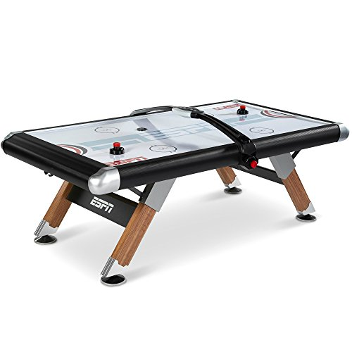 ESPN Air Hockey Table with Overhead Electronic Scorer and Table Cover Family...