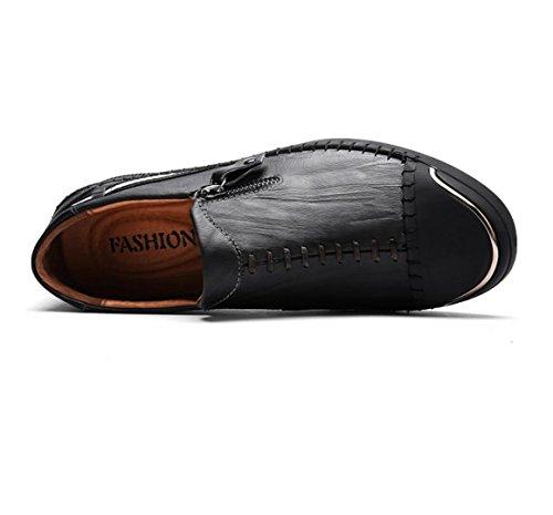 Petits Plates Nouvelles de Conduite black Cuir Chaussures de Hommes Respirant Sport pour Chaussures WSK Hommes en Chaussures ZqwF5xnSCt