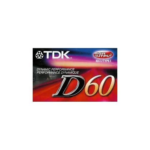 TDK D60 IEC I / Type 1 High Output Audio Cassette.