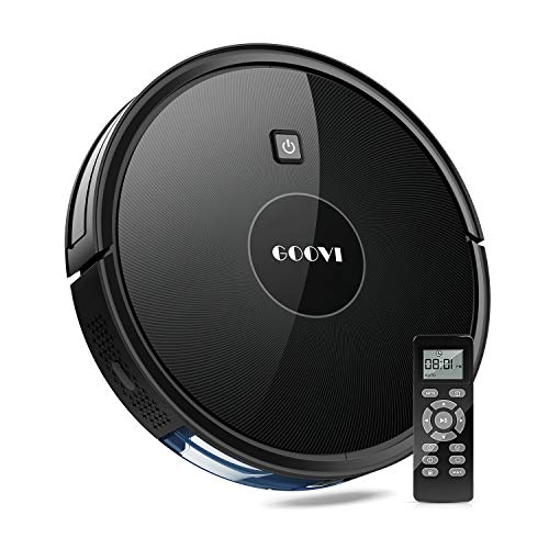 GOOVI Robot Vacuum, Robotic Vacuum Cleaner (Slim) Strong Suction, Quiet Multiple Cleaning Modes, Self-Charging Vacuum, for Pet Hair, Hard Floor, Medium-Pile Carpets