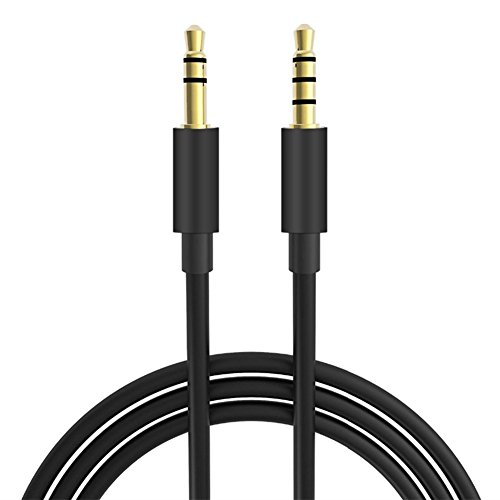 10 FT Extra Long Male to Male Universal Aux Audio Stereo Cable for All 3.5mm-Enabled Devices, Apple iPhone, iPad, iPod, HDTV, PC, Phone, Windows, MP3, Headphones, Home/Car Stereos and More (10FT)